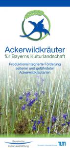 Ackerwildkraut-Flyer Stiftung Bayerische Kulturlandschaft