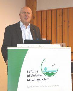 Prof. em. Dr. Wolfgang Schumacher, stv. Vorstandsvorsitzender Stiftung Rheinische Kulturlandschaft