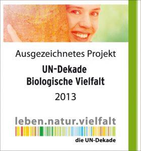 Das Ackerwildkrautprojekt wurde im April 2013 als offizielles Projekt der UN-Dekade Biologische Vielfalt ausgezeichnet.