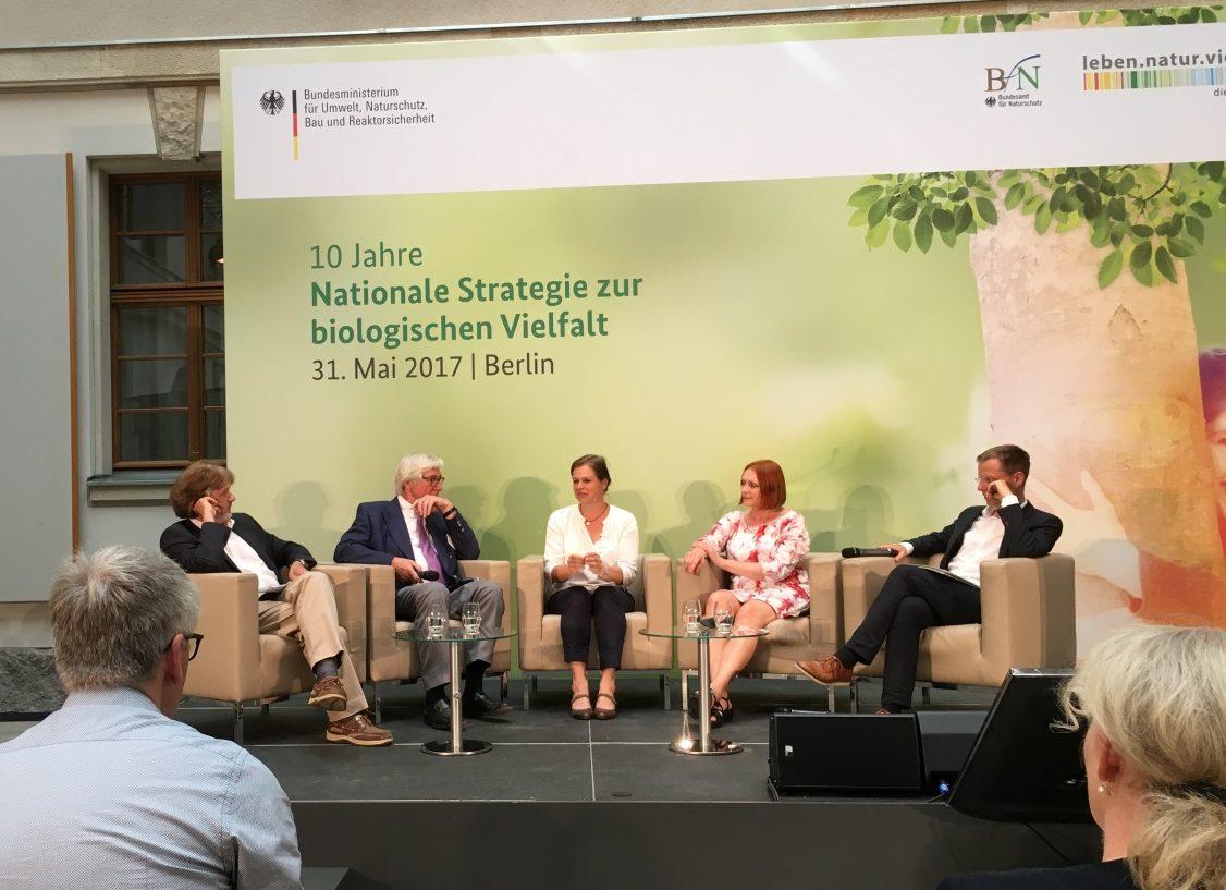 Diskussionsrunde zur Nationalen Biodiversitätsstrategie