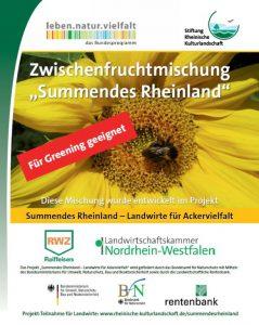 """Die neue Zwischenfruchtmischung """"Summendes Rheinland"""" fördert Wildbienen sowie andere Bestäuber und ist zudem Greening-geeignet."""