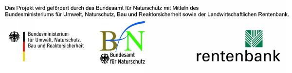 Logos Fördermittelgeber Summendes Rheinland BMUB BfN Landwirtschaftliche Rentenbank