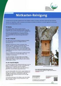 Infoblatt Nistkasten-Reinigung