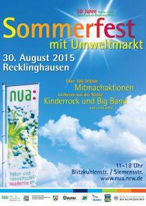 Infoplakat zum NUA Sommerfest