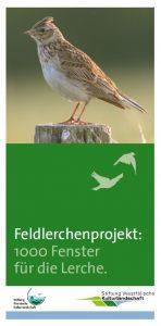 Flyer Feldlerchenprojekt