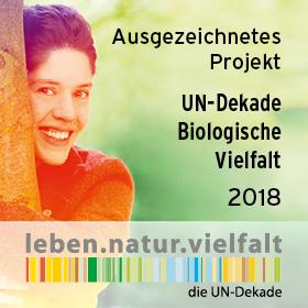 Logo Ausgezeichnetes Projekt der UN-Dekade für Biologische Vielfalt 2018